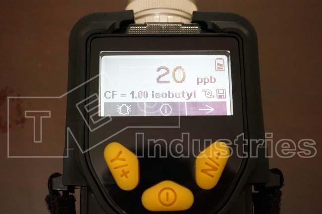 ppbRAE 3000 PGM-7340 Measuring Screen