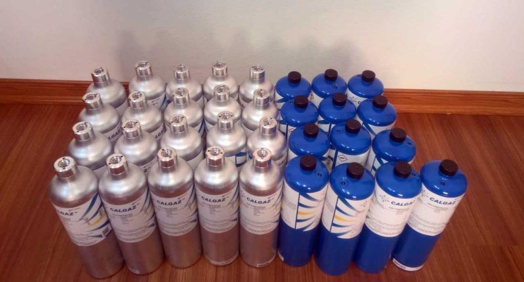 Gas bottle calibration toxic Gas detector