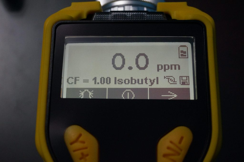 VOC MiniRAE 3000 Gas Meter Display