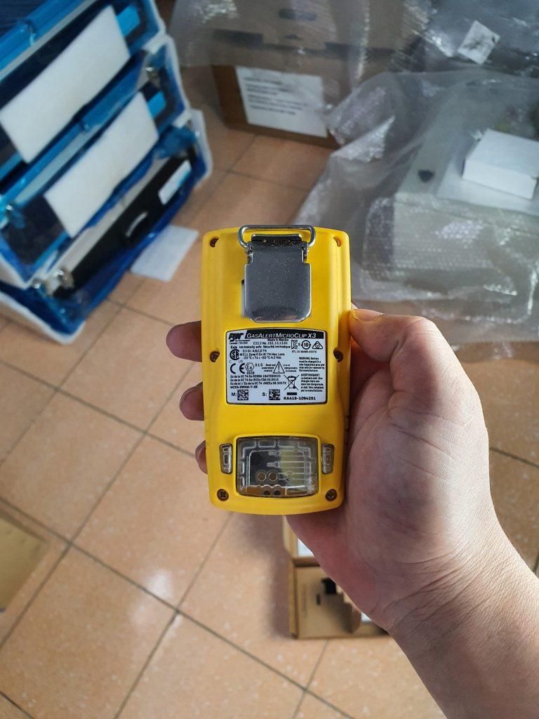 GasAlertMicroClip X3 - Mặt sau